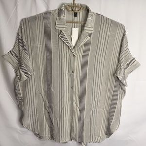 Eileen Fisher Button Front Tunic Top Size 2X